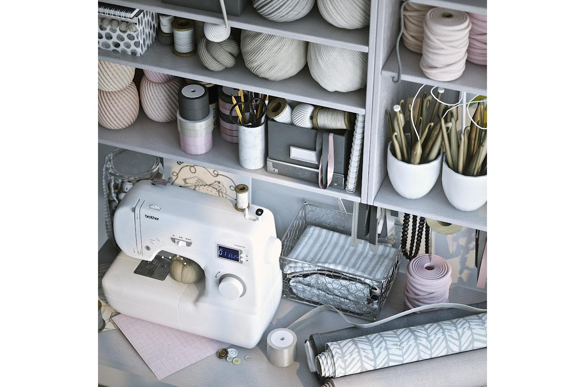 hand sewing equipment 3d model turbosquid