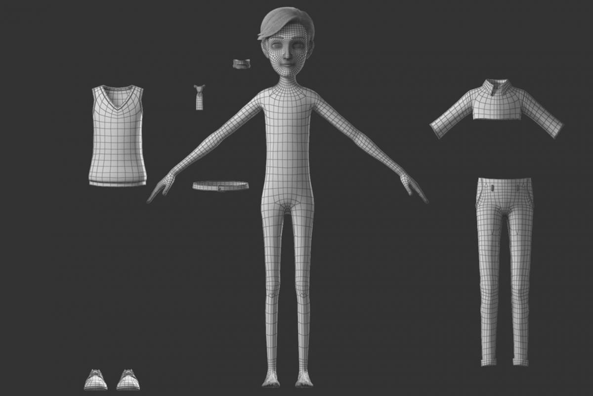 human body cartoon 3d model turbosquid