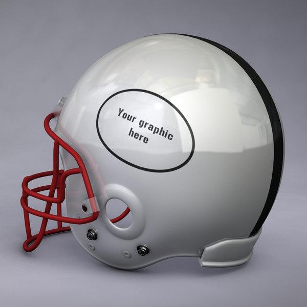 3d model of a football helmet