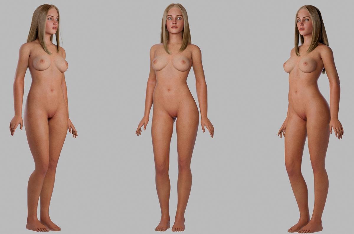 nude woman 3d model turbosquid