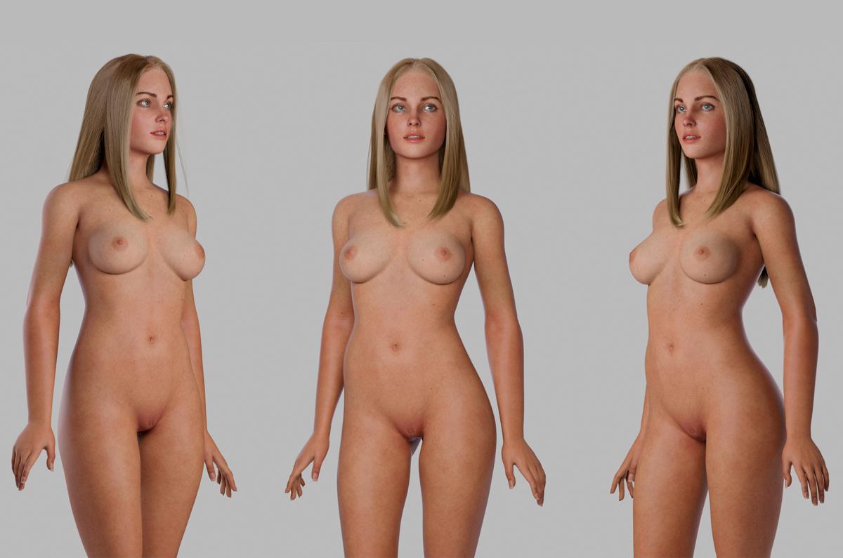 realistic female 3d model turbosquid