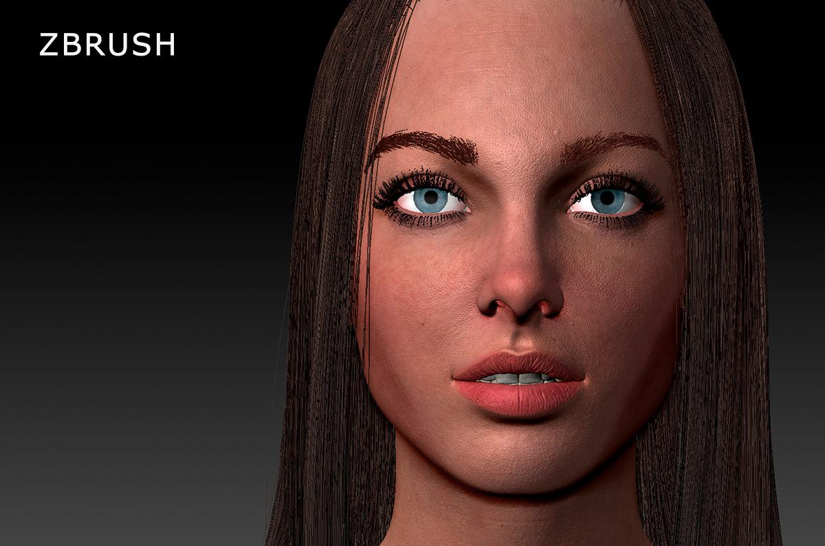 woman zbrush 3d model turbosquid
