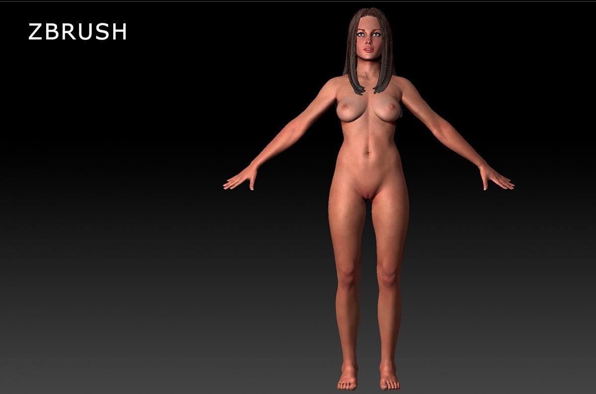 qualitative 3d model of Woman Jean turbosquid