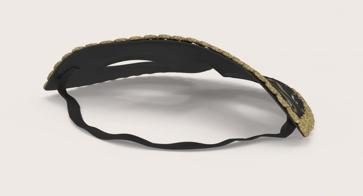 masquerade black mask 3d model turbosquid