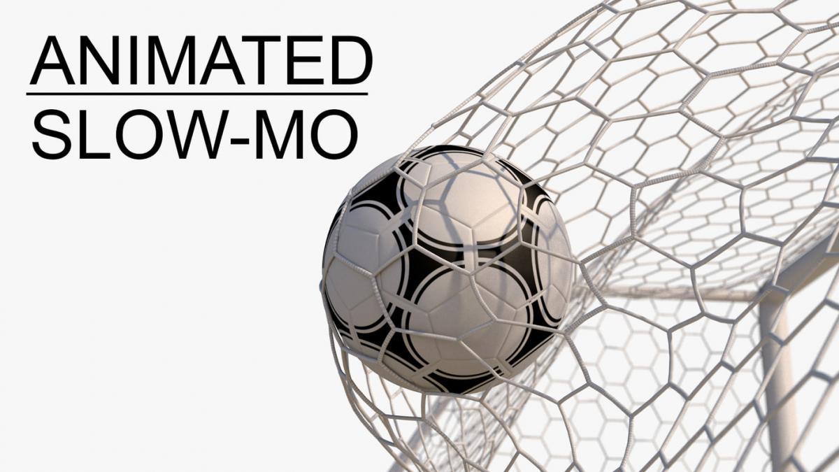 soccer net animated slow motion 3d model turbosquid