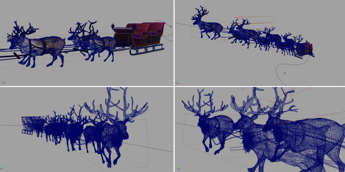 reindeers 3d model turbosquid