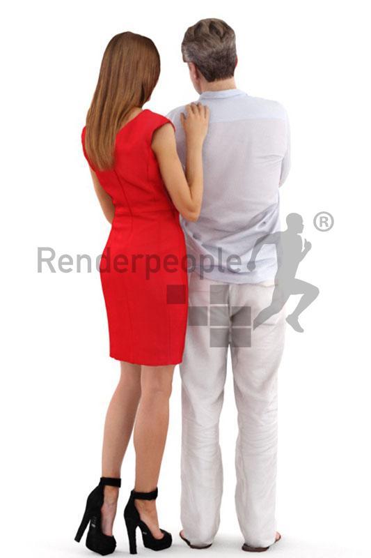 Dennis and Julia posed 3d model renderpeople