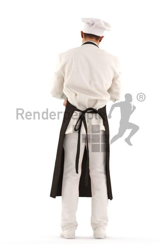 chinese chef 3d model renderpeople