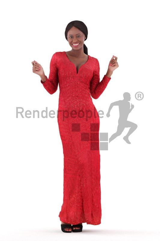 woman dancing 3d model renderpeople