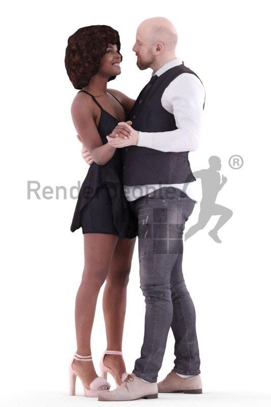 people posed 3d model renderpeople
