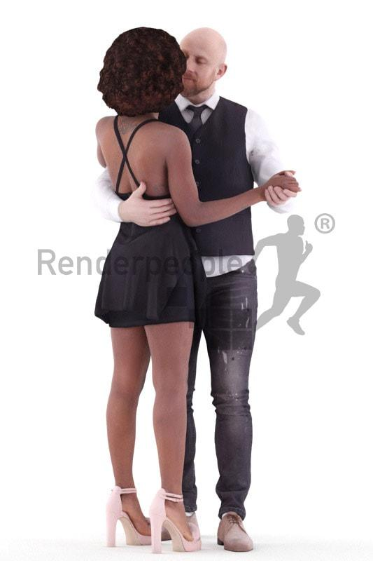 husband and wife 3d model renderpeople