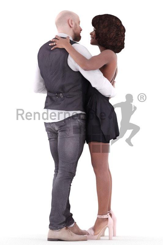 Sydney and Joel posed 3d model renderpeople