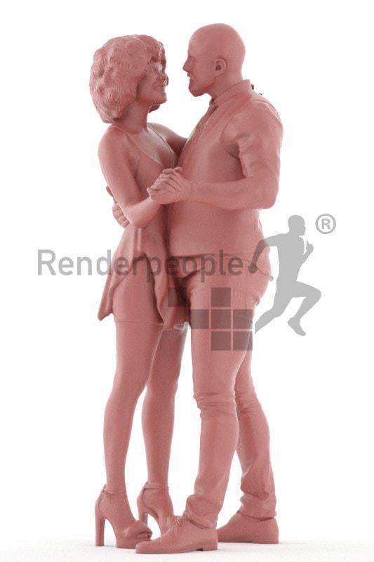 man and woman dancing 3d model renderpeople