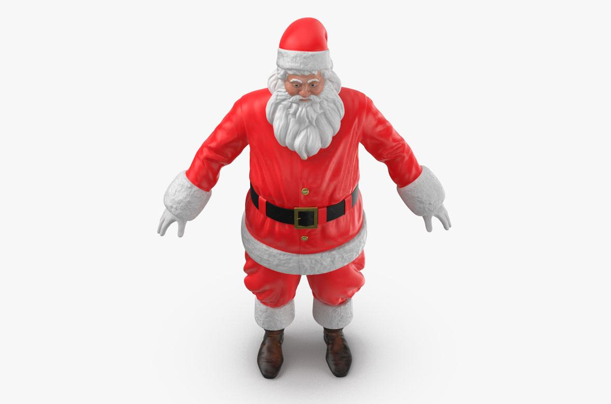 father christmas standing 3d model turbosquid