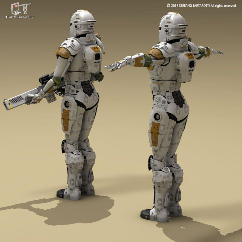 space droids characters 3d model 3dexport