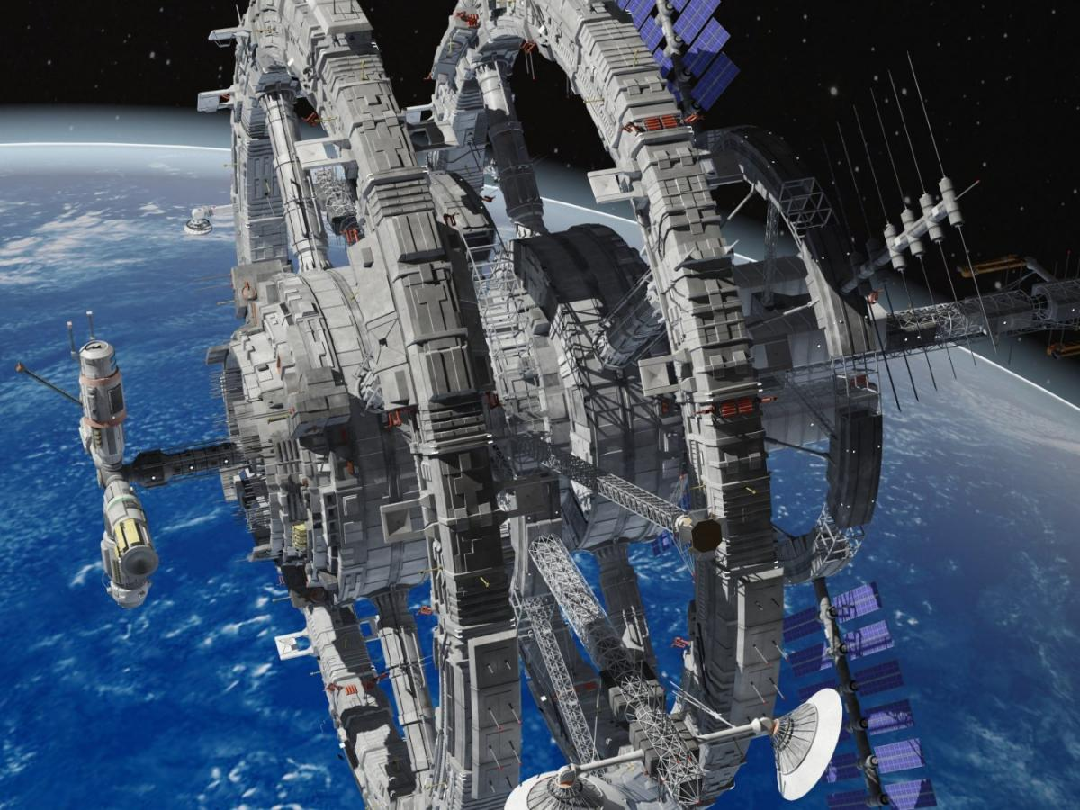fictional space station 3d model 3dexport