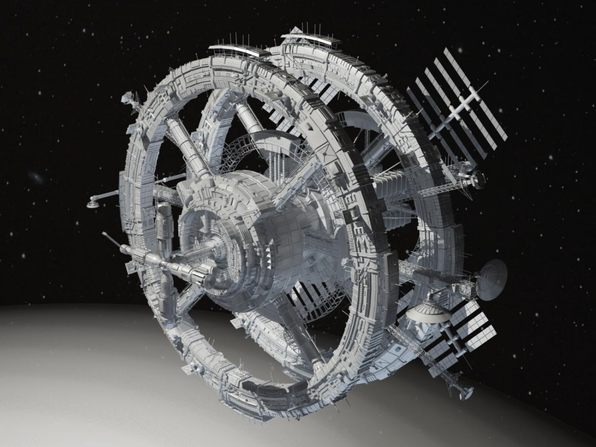 sci-fi spacecraft 3d model 3dexport