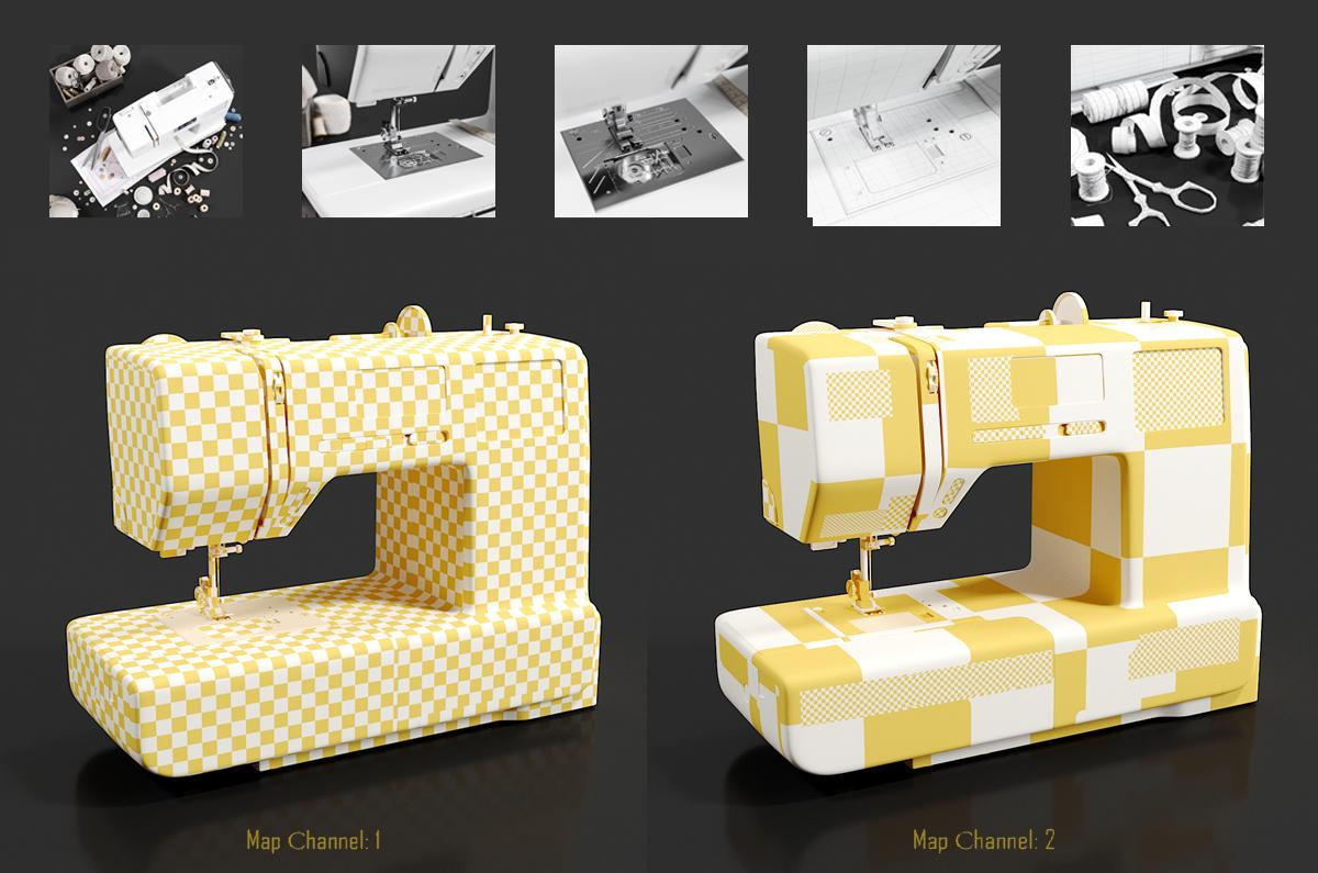 sewing machine 3d model turbosquid