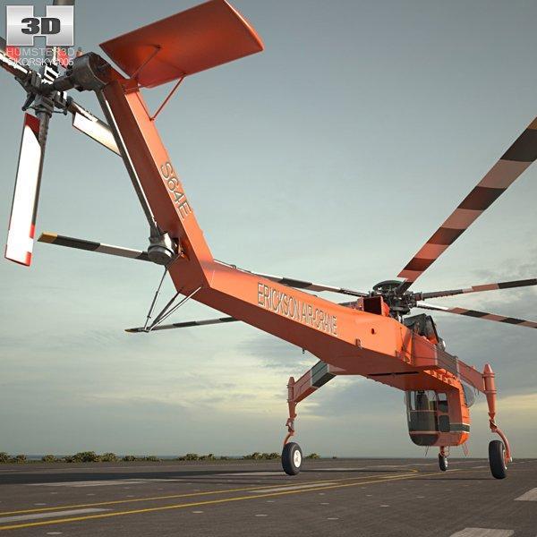 sikorsky skycrane 3d model 3dexport