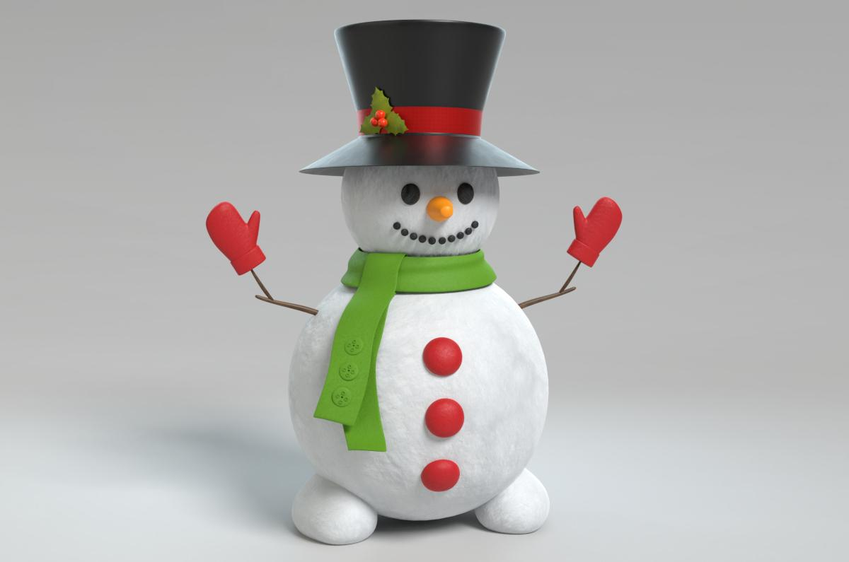 snowman 3d model turbosquid