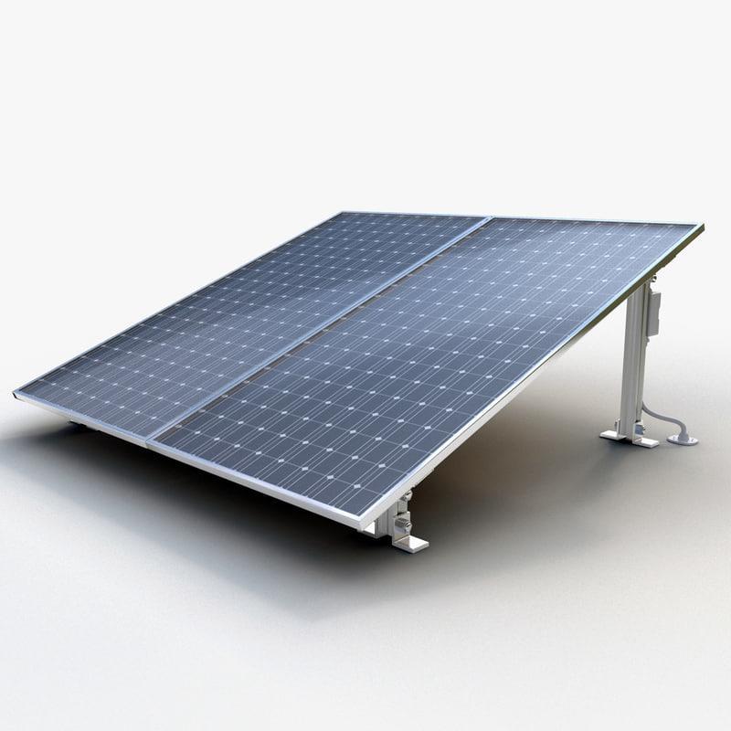 solar panel 3d model turbosquid
