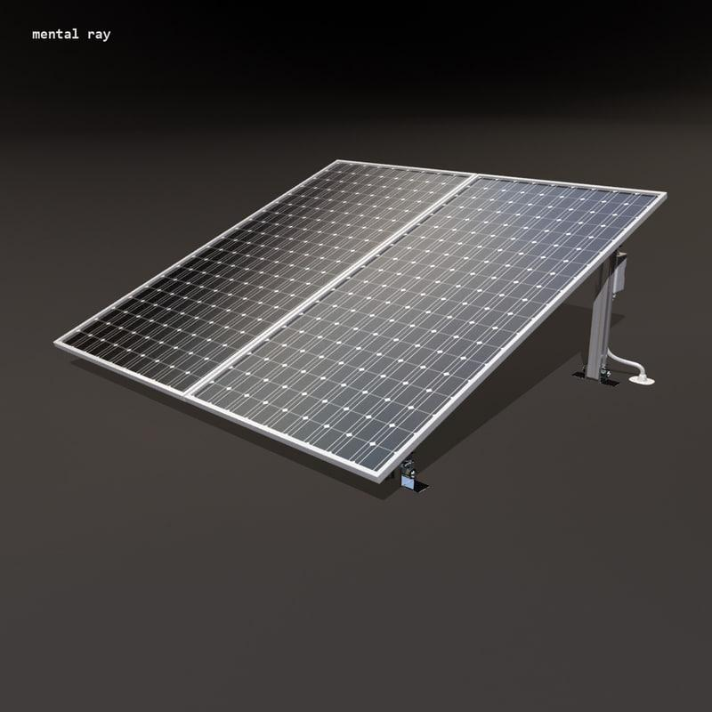 solar energy 3d model turbosquid