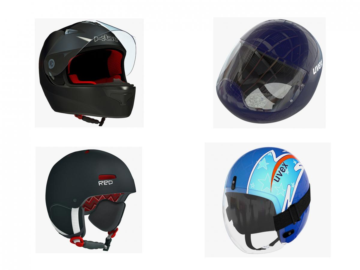helmets for sports 3d models turbosquid