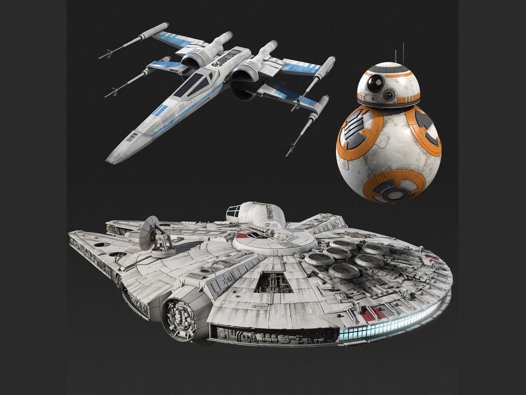 Star Wars collection 3d models force awakens turbosquid