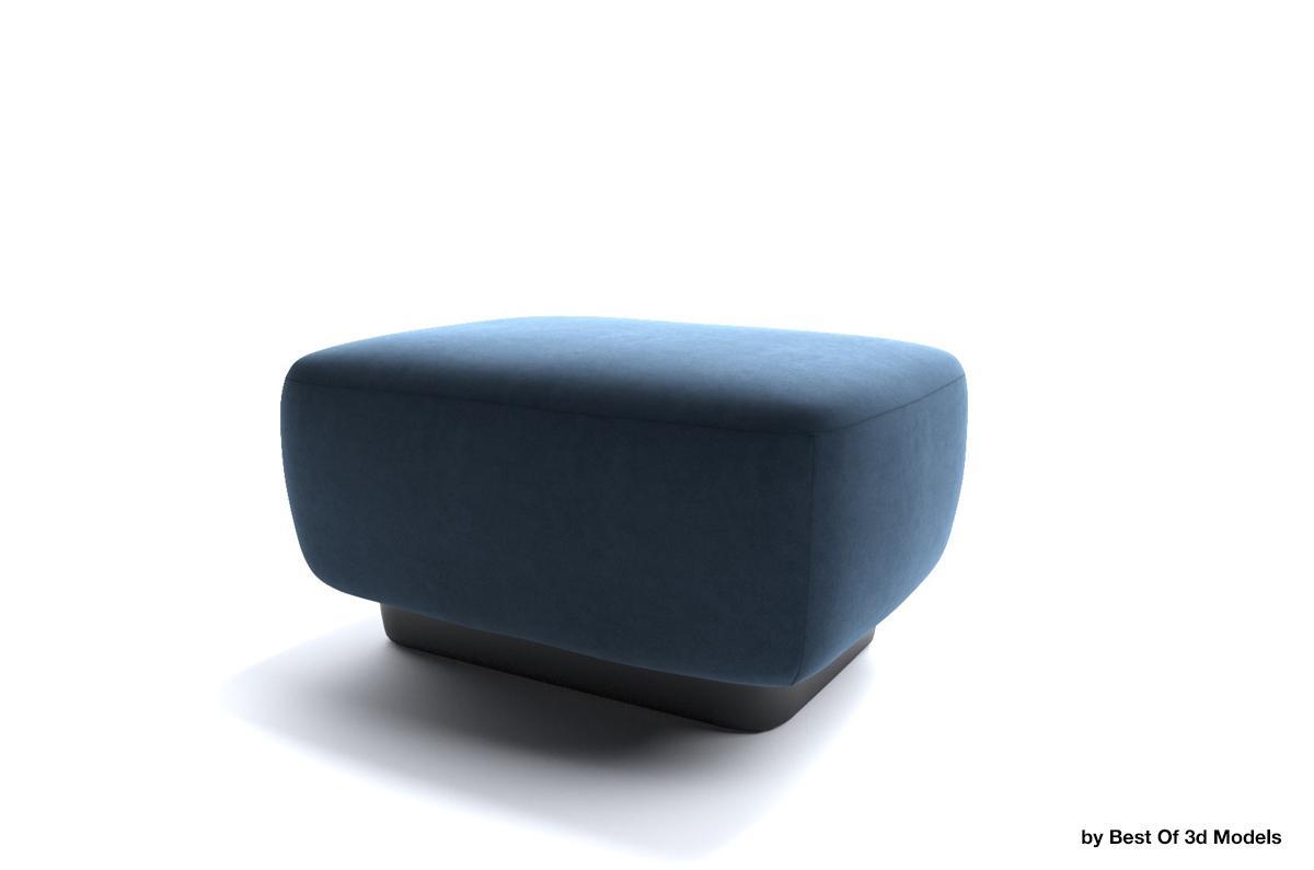 lounge furniture ottoman 3d model holly hunt