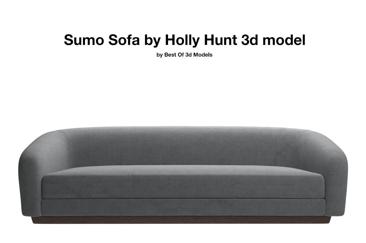 sumo sofa holly hunt 3d model