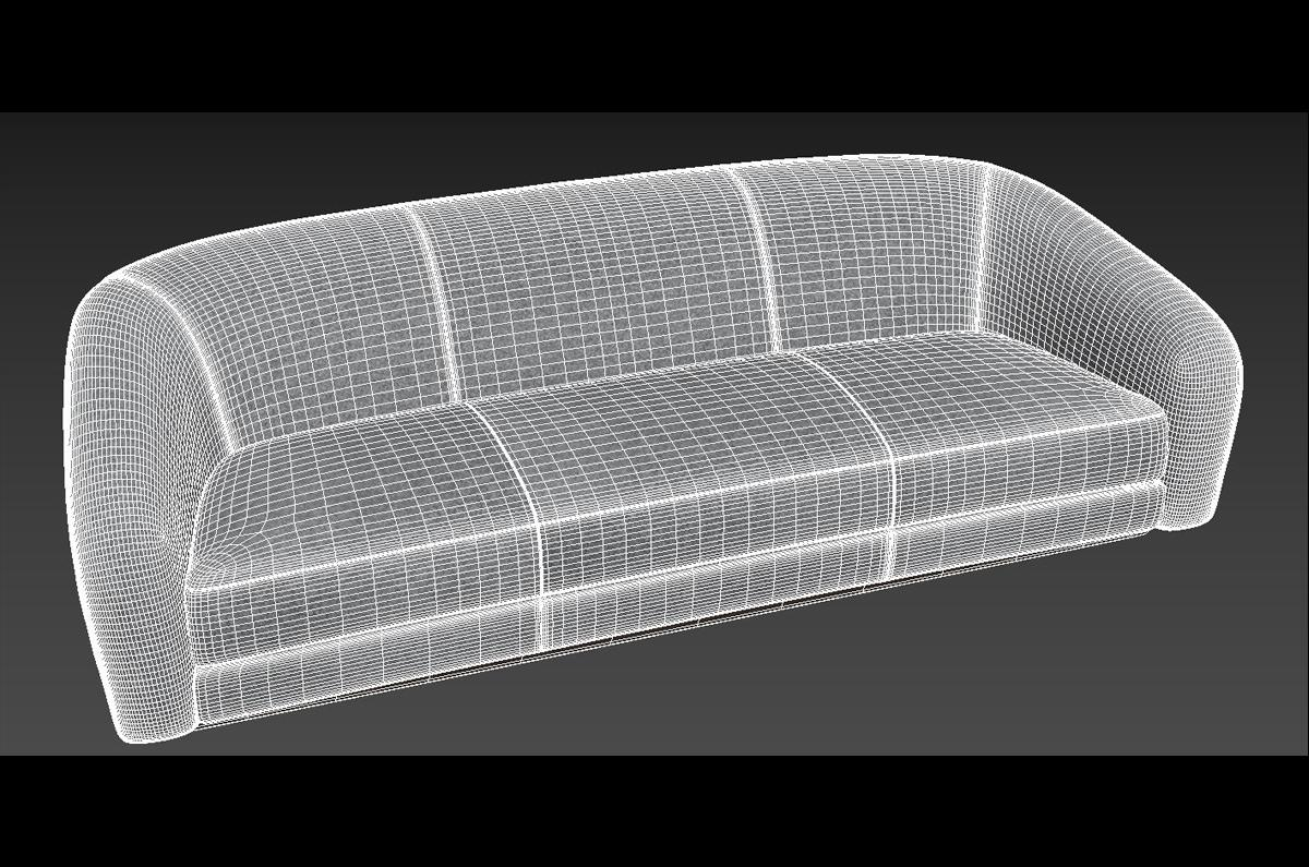 holly hunt couch 3d model