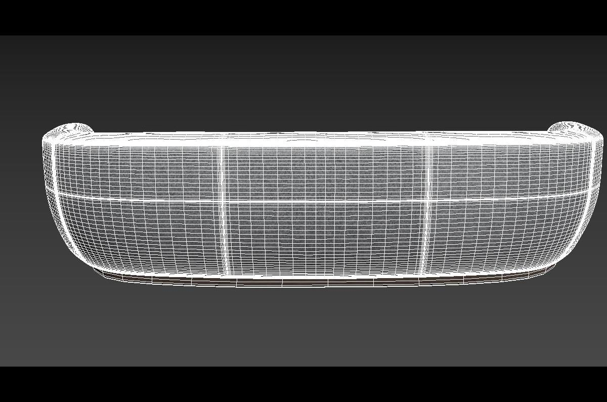 curved sofa 3d model holly hunt