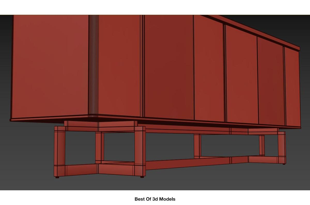 sideboard with interior compartments 3d model holly hunt