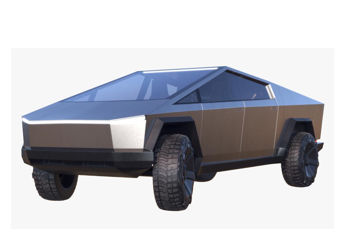 tesla new car 3d model turbosquid