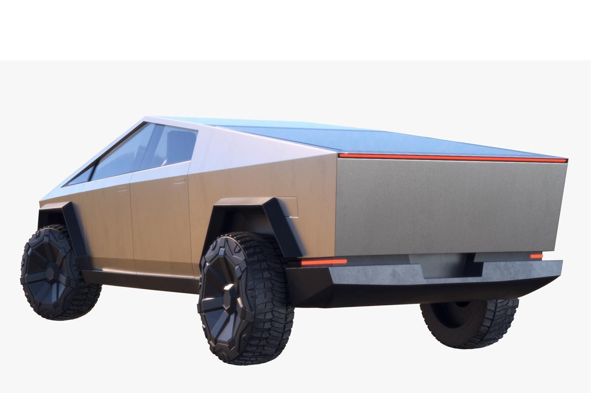 tesla cybertruck 2021 3d model turbosquid