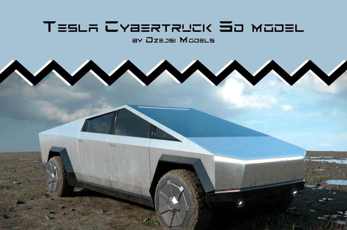 tesla cybertruck 3d model turbosquid