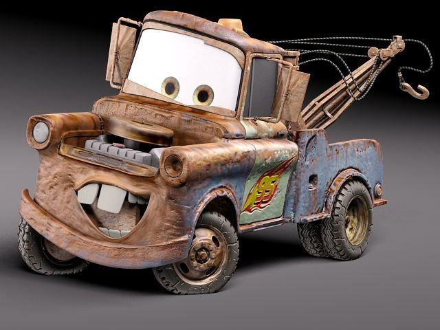 3d model of Tow Mater from Pixar's movie Cars