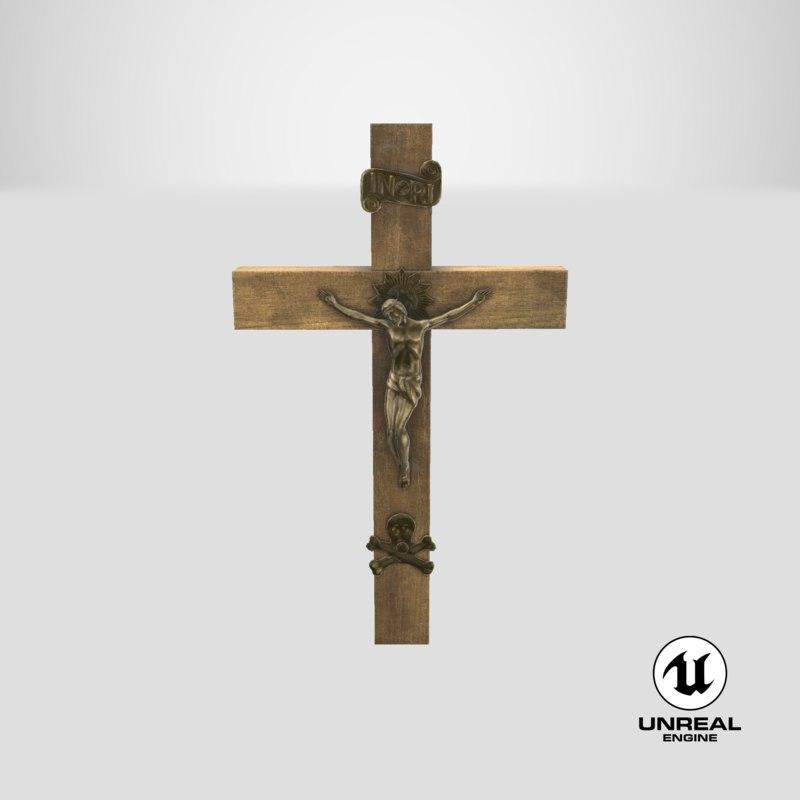 3d model unreal crucifix