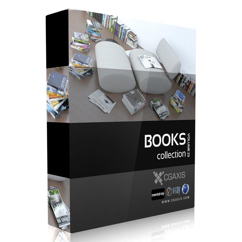 books collection 3d model turbosquid cgaxis