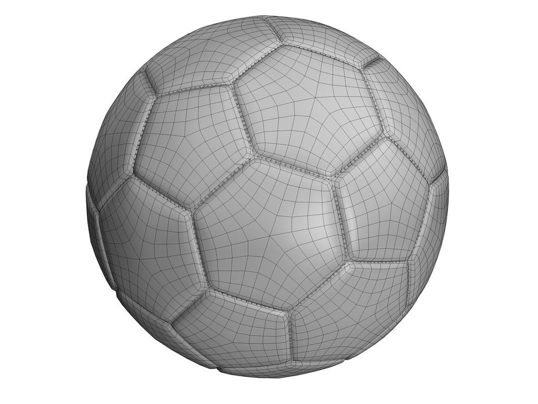 world cup ball wireframe 3d model turbosquid