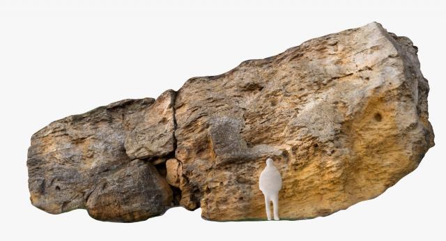 large limestone boulder 3d model turbosquid