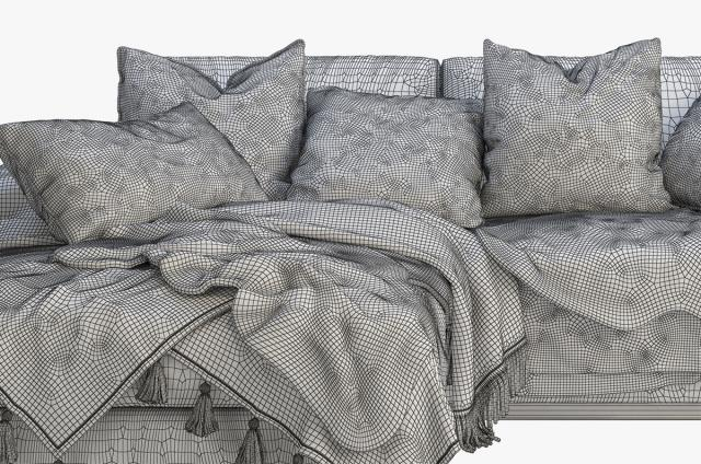 sofa with soft cushions 3d model turbosquid