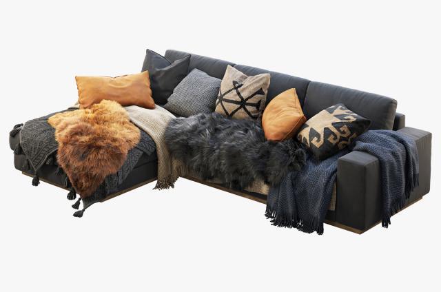 modern sectional sofa 3d model turbosquid