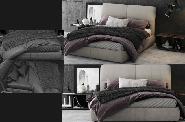 Poliform Laze Bed 3d model turbosquid