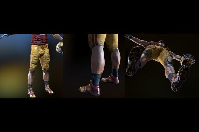 football team athlete 3d model rigged and animated turbosquid