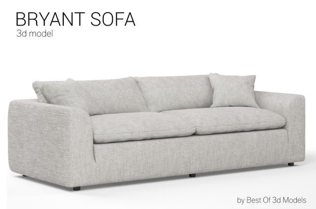 deep-seated frame sofa 3d model