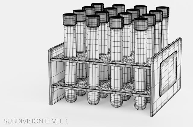 corona virus disease test tubes 3d model turbosquid