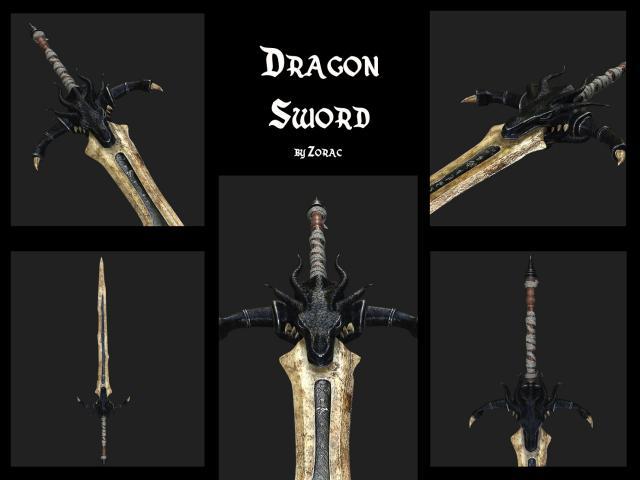 dragonsword 3d model turbosquid