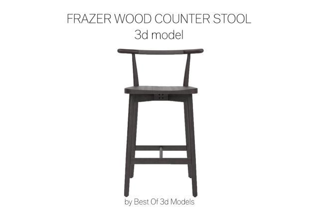 counter stool 3d model