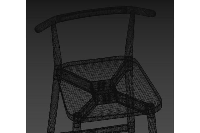 restaurant seating 3d model